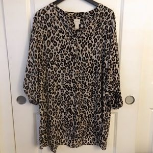 Chico leopard print top